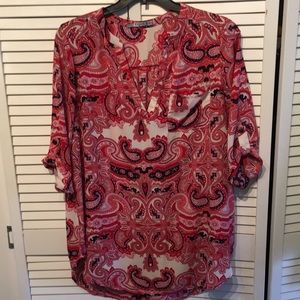 Tops - 1X Cupid's Diary Paisley blouse/tunic
